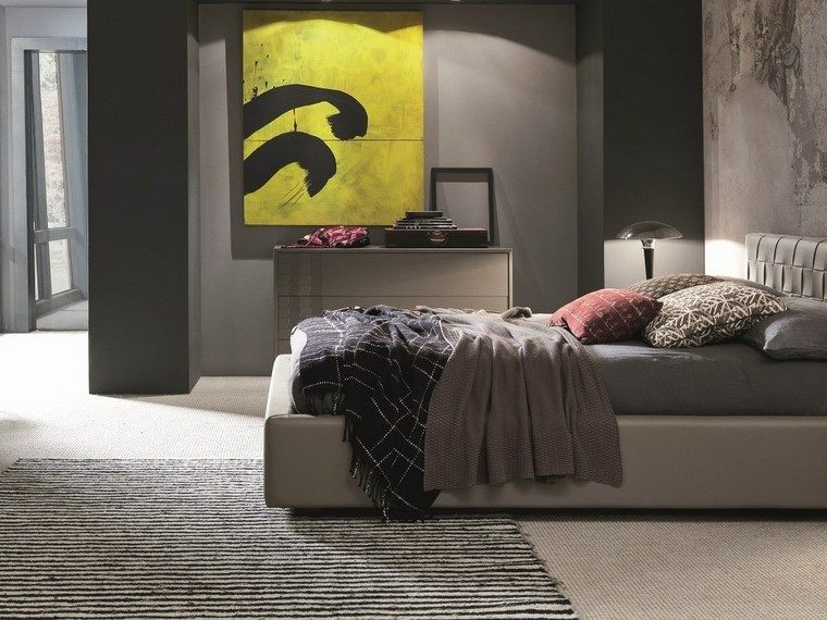 ideas para decorar dormitorios cuadro decorativo modernas