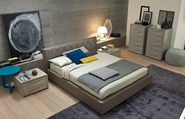 ideas para decorar dormitorios mesita azul moderno