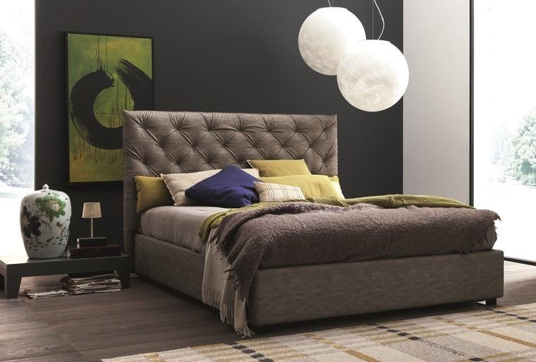 ideas para decorar dormitorios mesita noche baja moderno