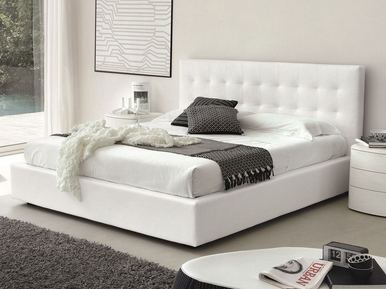 ideas para decorar dormitorios muebles paredes blancos modernos