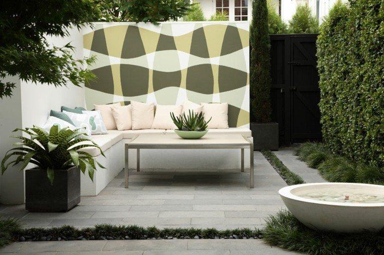 ideas para decorar minimalista jardin jarrones