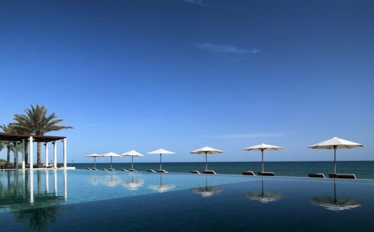 infinito azul horizonte pergola diseño