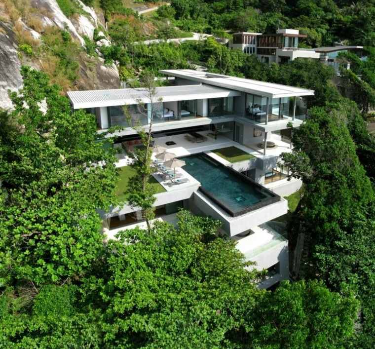 infinito piscinas arquitectura bosque lujo