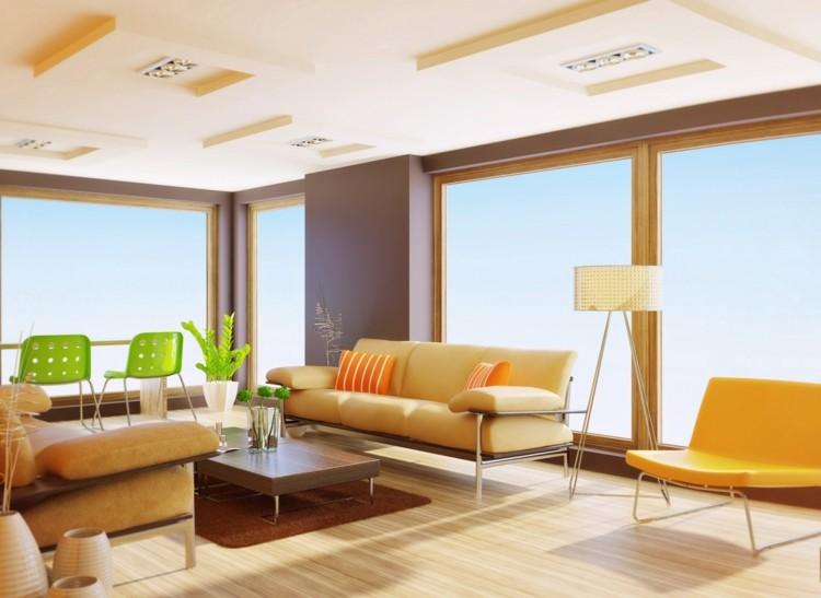 interior muebles colores casa silla