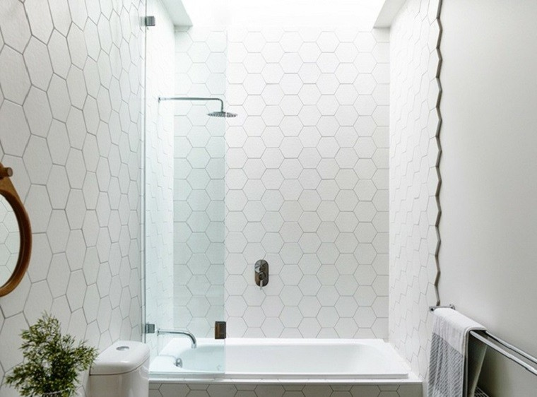 small hexagon bathroom tiles interiores minimalistas ba 241 os modernos y elegantes 20546