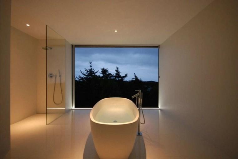 interiores minimalistas ducha banos modernos ideas