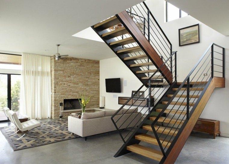 decoracion nteriores modernos escaleras madera