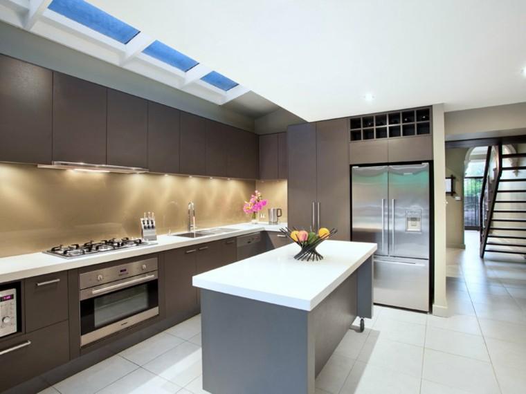 Dise o de cocinas modernas 100 ejemplos geniales - Cocinas rectangulares ...