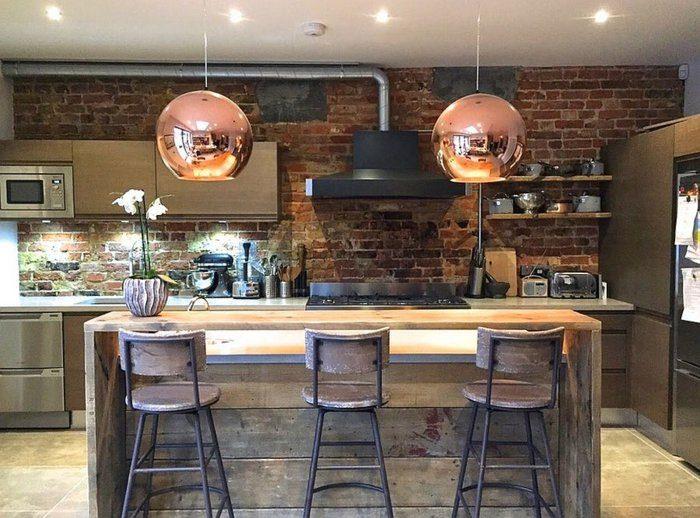 Electrodomesticos y cocinas de aspecto industrial 100 ideas for Cocina industrial hogar