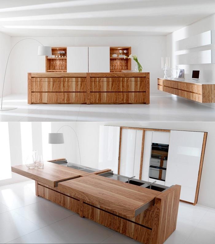 Encimeras de cocina lo ltimo en mobiliario inteligente for Isla cocina con ruedas