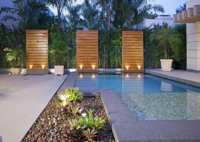 isla piscina diseño moderno