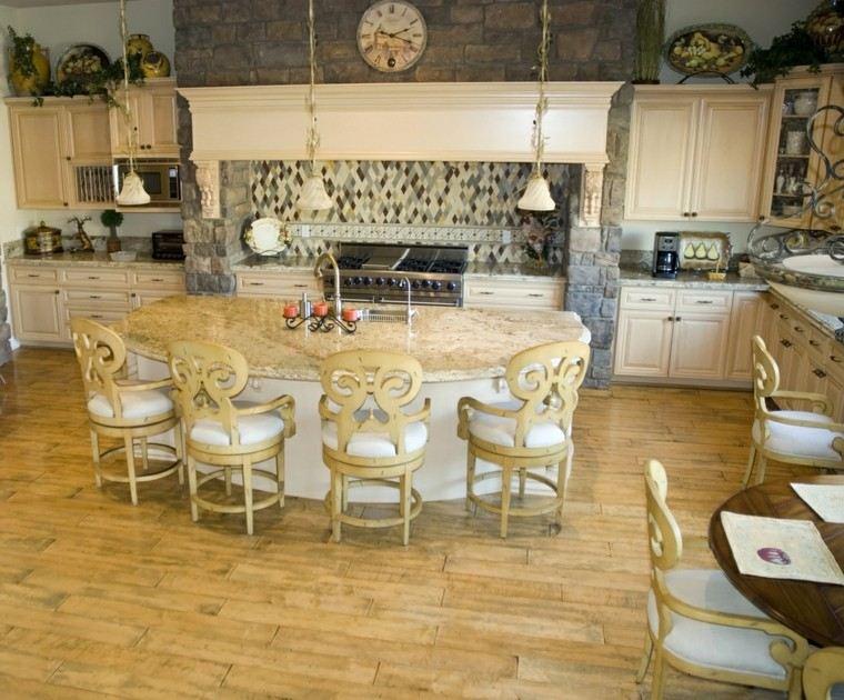 islas cocinas clasicas lujo sillas preciosas ideas