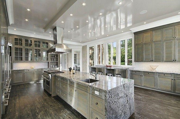 islas cocinas lujo marmol amplia preciosa ideas