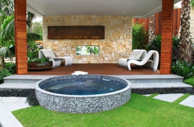 jacuzzi exteriorcincuenta ideas espectaculares - Hot Tub Design Ideas