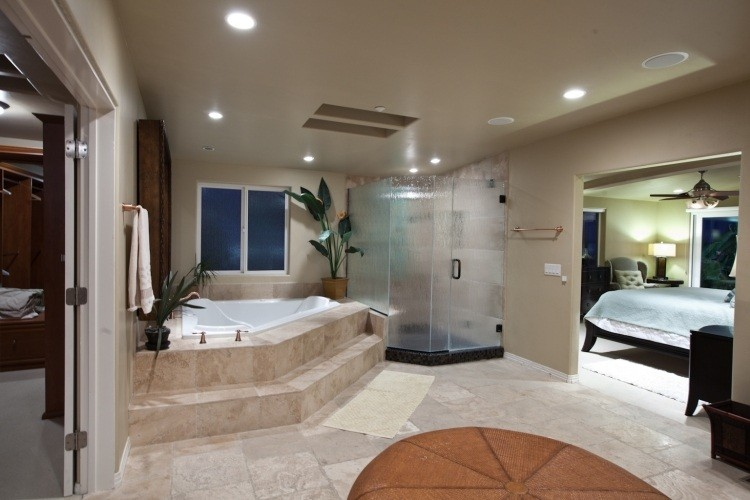 jacuzzi interior plantas led escalones