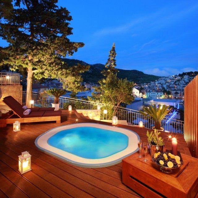 jacuzzi terraza plataforma madera teca