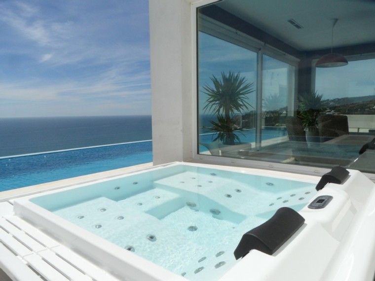 jacuzzi terraza vistas mar preciosas ideas