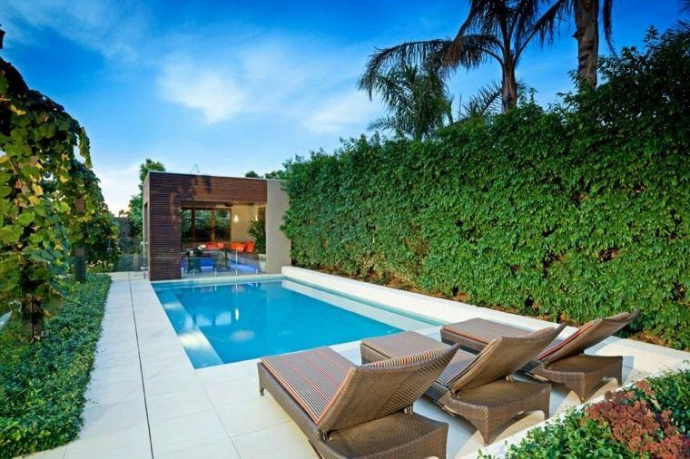 Modelos de dise os paisajistas con piscina 75 ideas for Como decorar un jardin con piscina