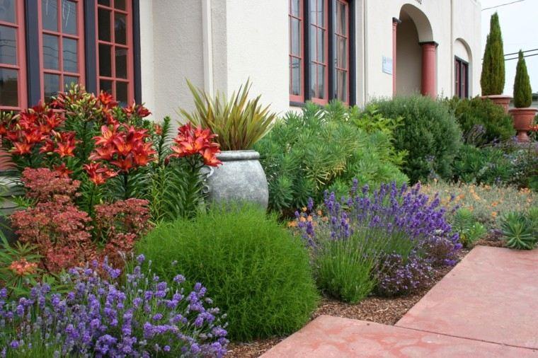 jardin mediterraneo plantas verdes maceta ideas