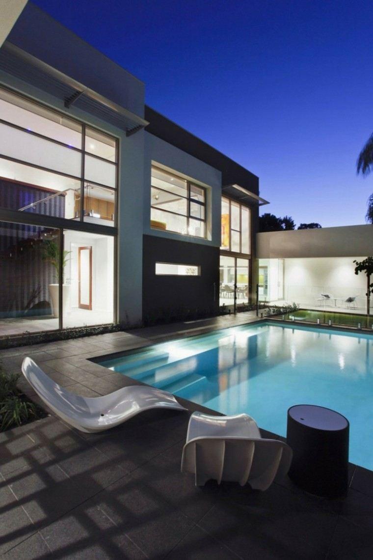 jardin moderno minimalista modelos piscina