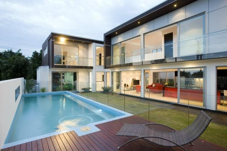 jardin estilo moderno piscina pequeña