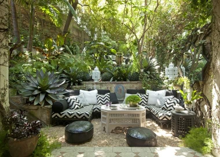 jardin natural muebles preciosos negros ideas