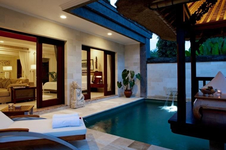 jardin estilo oriental pergola flotante