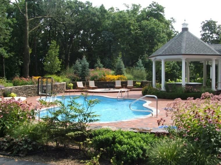 jardin piscina pergola mirador