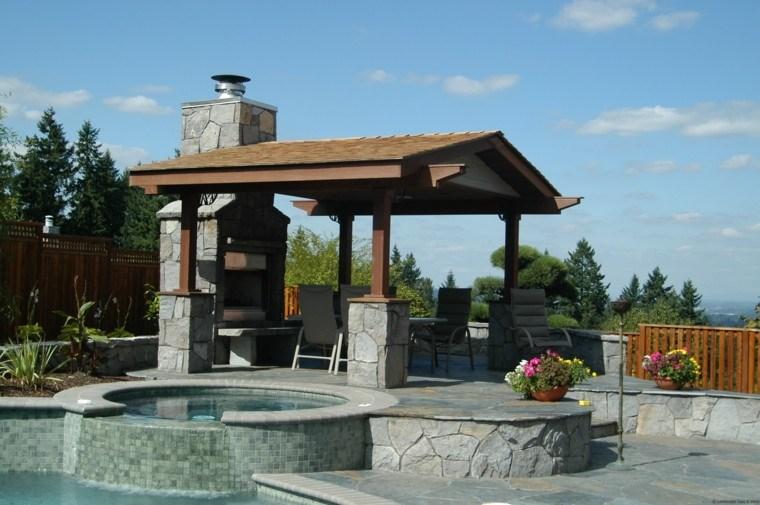 jardin piscina pergola jacuzzi cocina