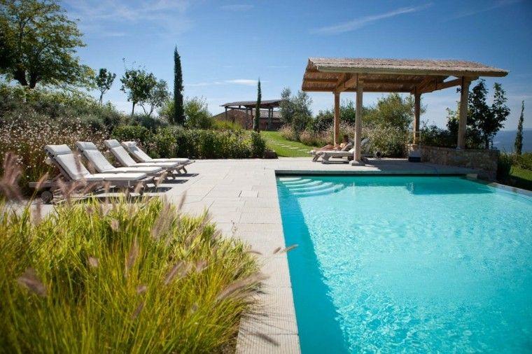 jardin piscina pergola mirador madera
