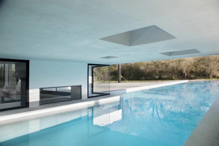 jardin diseño piscina zona cubierta