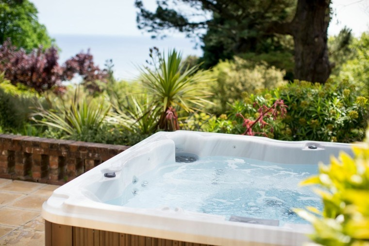 Awesome jacuzzi jardin occasion contemporary design trends 2017