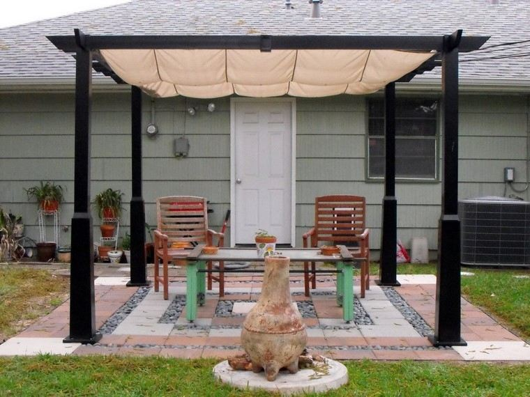 P rgolas jardines terrazas con estilo muy modernas for Jardines verticales con madera