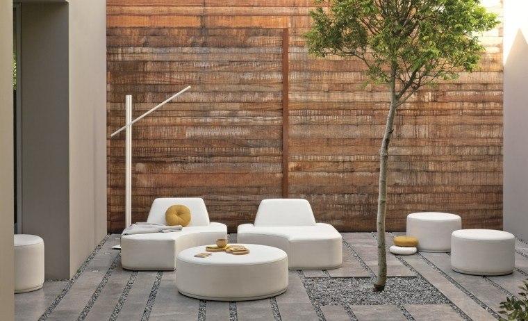jardin valla madera sofas diseno moderno ideas