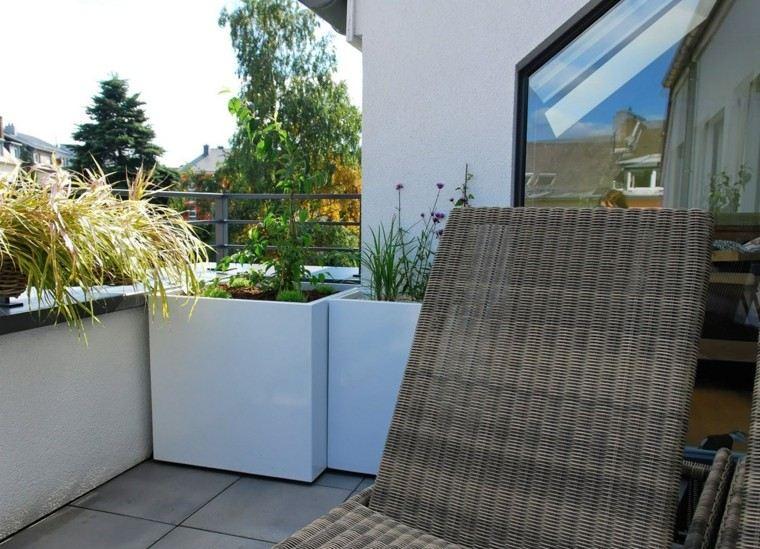 Macetas jardineras y plantas preciosas en el jard n for Arboles para macetas de exterior