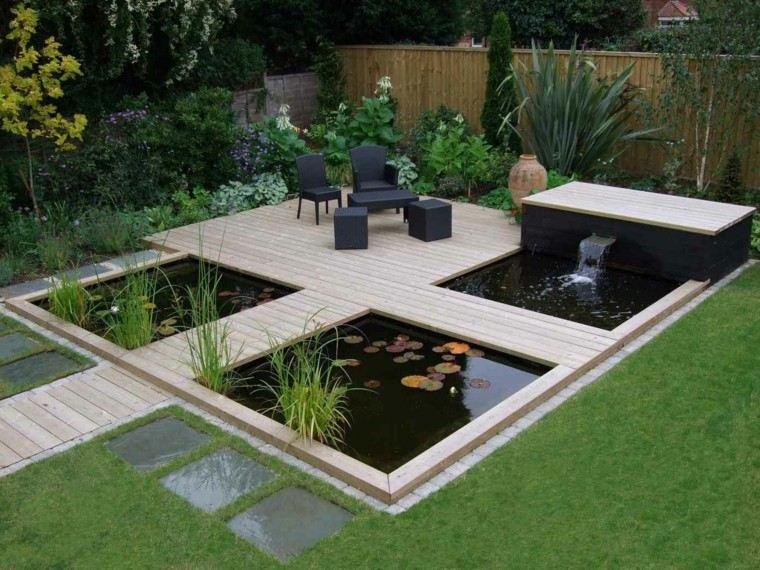 jardines diseño cesped plantas muebles exterior patio
