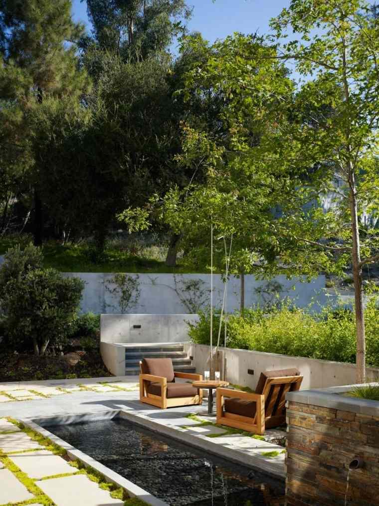 jardines diseño muebles exterior plantas cojines