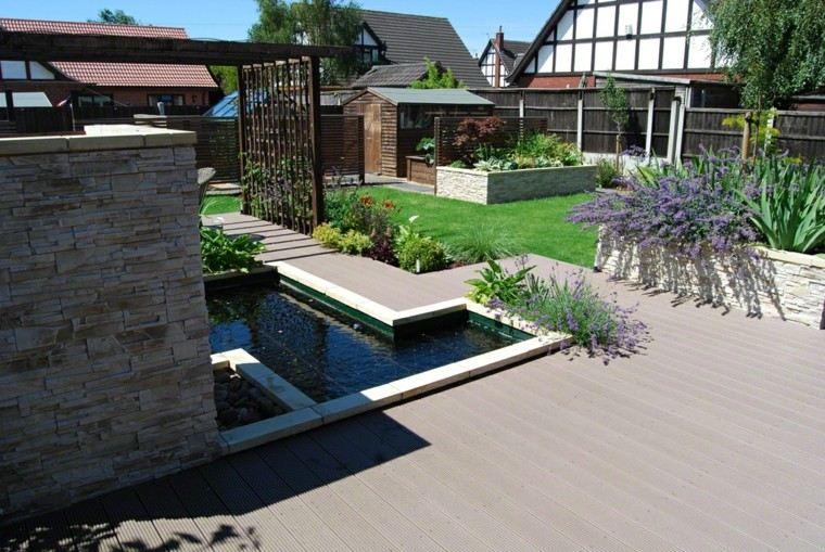 jardines diseño patio moderno plantas