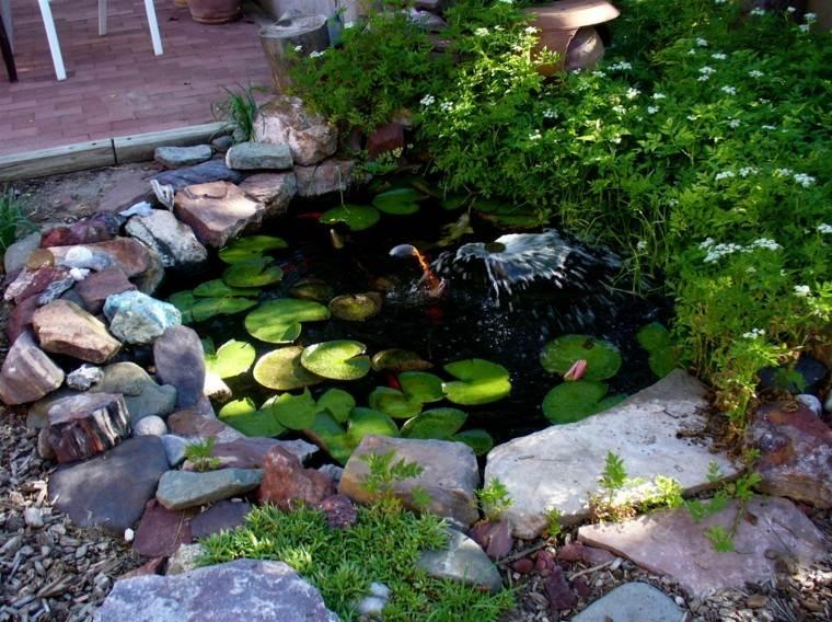 jardines diseño rocas plantas mantillo mantillo
