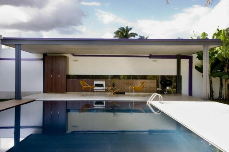 jardines minimalistas porche piscina moderna