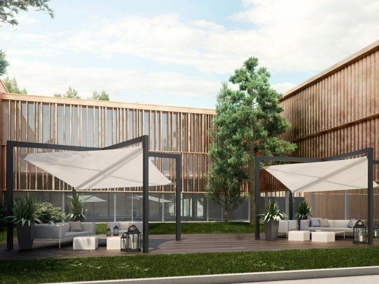 jardines modernos diseño pergolas