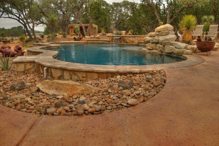 jardines piedras decorativas plato fuego ideas