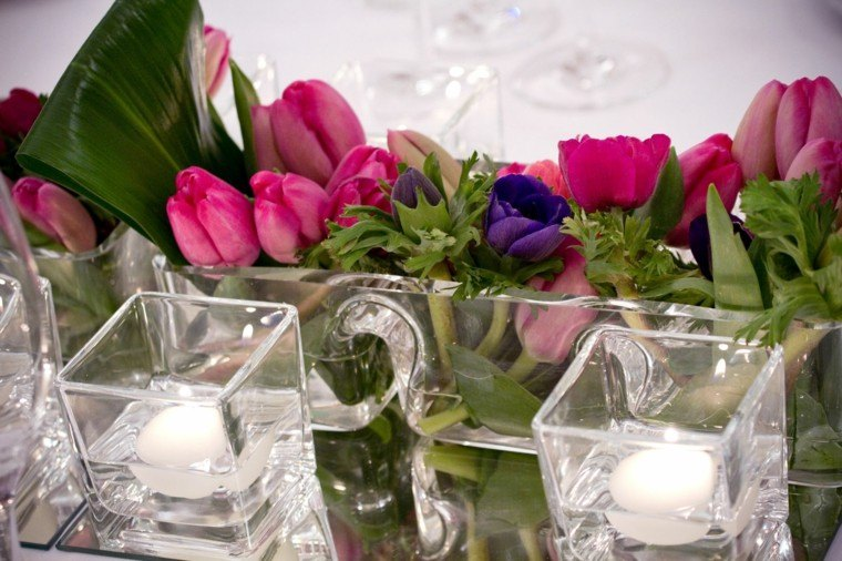 jarones pequenos cristal preciosos flores velas ideas
