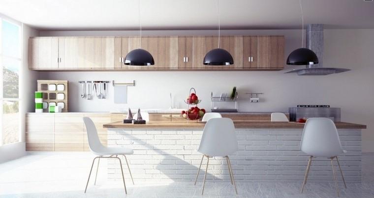 juegos de cocina amplia isla baldosas blancas modernas