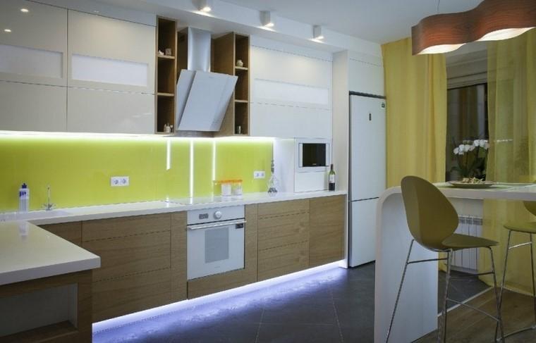 juegos de cocina armarios bajos madera altos color blanco moderna