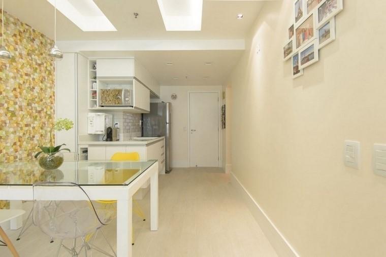 juegos de cocina color blanco muebles espacioestrecho moderna