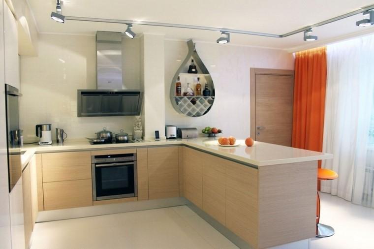 juegos de cocina ideas madera espacios amplios modernas