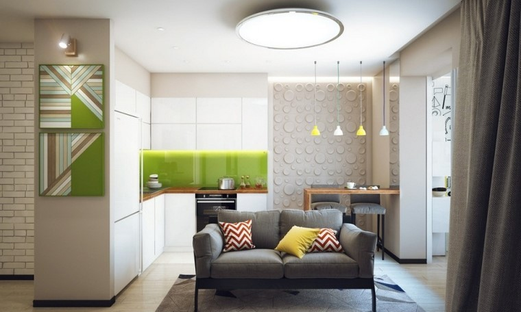 juegos de cocina ideas sofa gris armarios blancos moderna