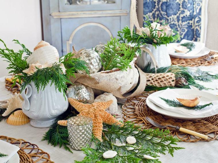 la mesa caracolas decoracion veraniega