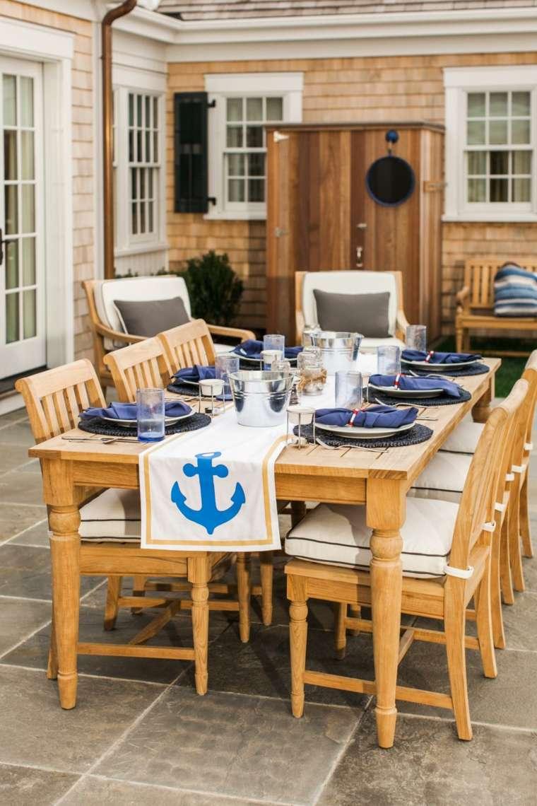 la mesa mar ancla mante sillas